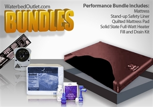 Free flow deluxe waterbed mattress bundle.