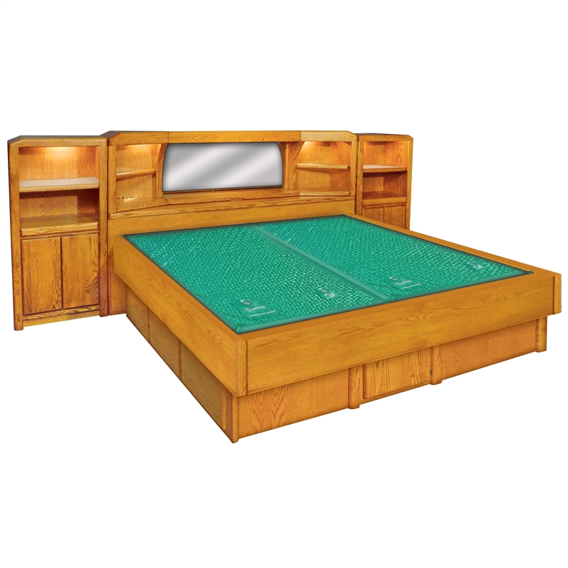 Marathon W Optional Pier Cabinets Wood Frame Waterbed