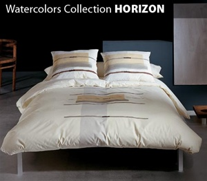 Watercolors Collection 3 Piece Comforter Set HORIZON