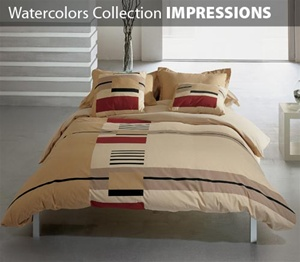 Watercolors Collection 3 Piece Comforter Set IMPRESSIONS