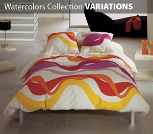 Watercolors Collection 3 Piece Comforter Set VARIATIONS