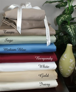 1000 TC Egyptian Cotton Waterbed Sheet Set Solid Colors