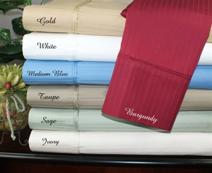 1000 TC Egyptian Cotton Waterbed Sheet Set Stripe Colors