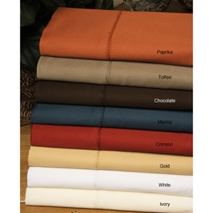 350 TC Egyptian Cotton Solid Colors for King Waterbeds Only (Read
