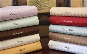 650 TC Egyptian Cotton Stripe Colors