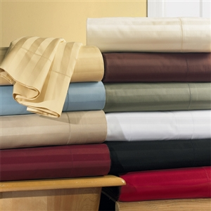 600 TC California King Combed Cotton Striped Un-Attached Waterbed Sheet Sets