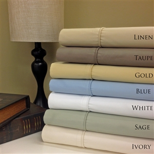 650 TC Wrinkle Free Combed Cotton Solid Un-Attached Waterbed Sheet Sets
