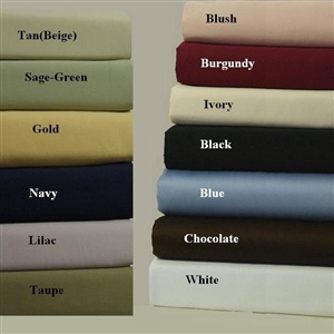 Pillow Cases 600 Thread Count Solid Combed Cotton