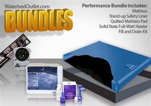 free flow waterbed mattress bundle
