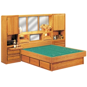 Coronado Tall Wall Set - Wood Frame Waterbed