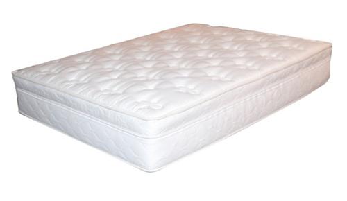 Bamboo Pillow Top Mattress ... : IVORY PILLOWTOP HARDSIDE WATERBED MATTRESS COVER W/ MEMORY FOAM