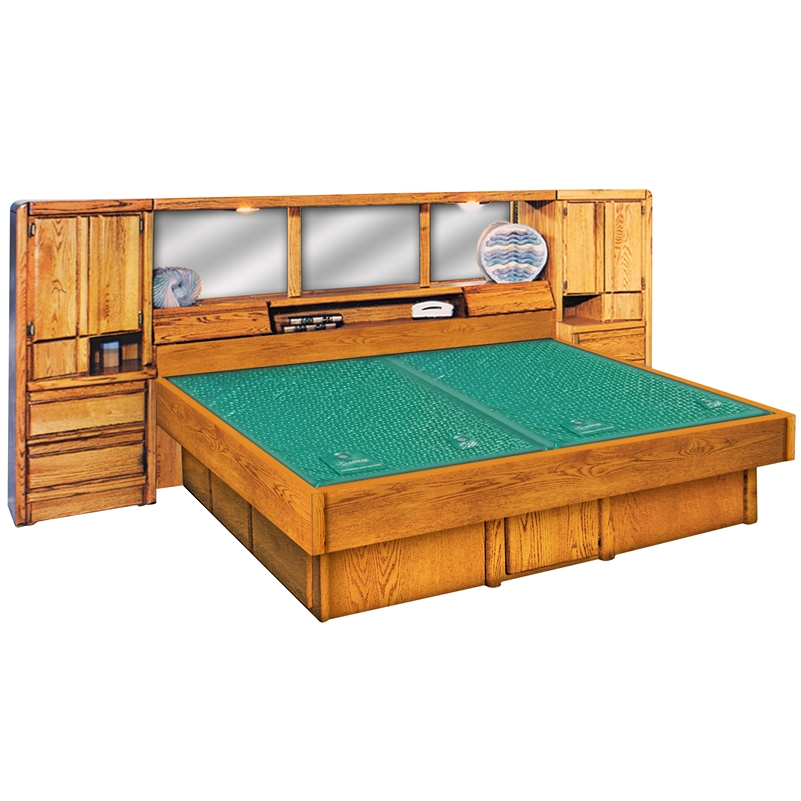 la jolla pier wall unit wood frame waterbed