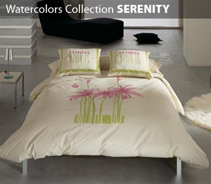 Watercolors Collection 3 Piece Comforter Set SERENITY