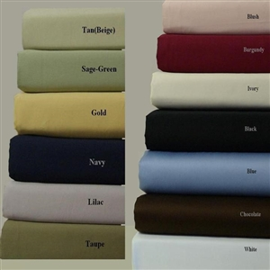 600 TC Combed Cotton Solid Attached Waterbed Sheet Sets