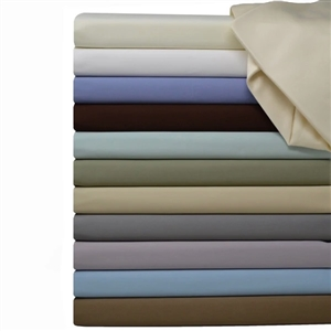 650 TC Sateen Solid Attached Waterbed Sheet Sets