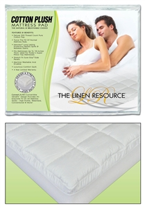 Cotton Plush Waterbed Mattress Pad