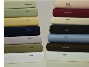 300 TC California King Combed Cotton Solid Un-Attached Waterbed Sheet Sets