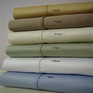 1000 TC California King Combed Cotton Solid Un-Attached Waterbed Sheet Sets
